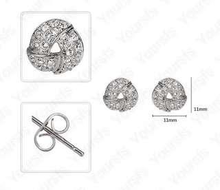 Gold Plated Ear Pin Use Swaroski Crystal Ladylike Torus Studs Earring