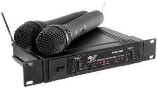 PYLE PRO PDWM2600 DUAL UHF WIRELESS MICROPHONE SYSTEM