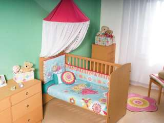 Baby Girls Fairies Flowers Crib Bedding Nursery Set 6pc