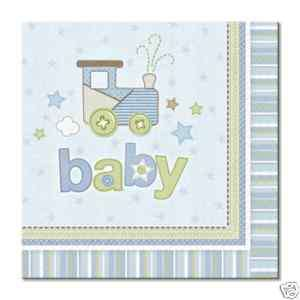CARTERS BABY BOY BABY SHOWER PARTY BEVERAGE NAPKINS NIP
