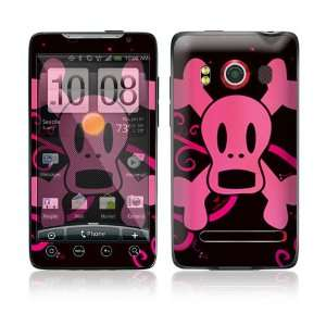 HTC Evo 4G Skin   Pink Screaming Crossbones Everything