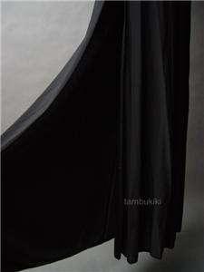 BACKLESS High Slit Blk Evening Halter Long Dress Gown L