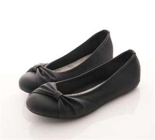 ... Womens Ballet FLATS Bowed BALLERINAS Casual Work Shoes Beige Black ... ec74ff477