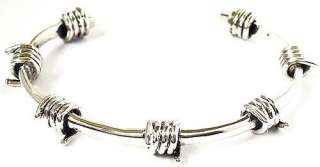 BARB WIRE BARBWIRE 925 STERLING SILVER BANGLE BRACELET