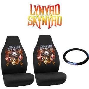 Skynyrd Rock n Ride Car Truck SUV Universal Fit Bucket Seat Covers