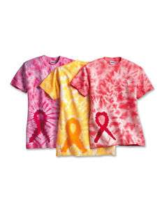 Breast Cancer Tie Dye Awareness Ribbon T Shirt