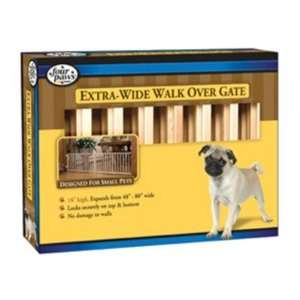 Extra Wide Walk Over Wood Gate in Natural: Pet Supplies