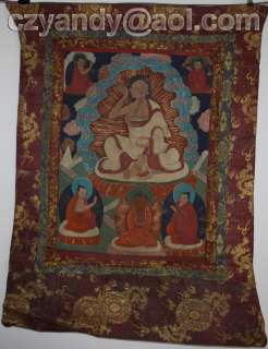 Wonderful Old Tibetan Buddhist Thangka TangkaMilarepa