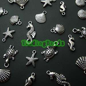 60Pcs Tibetan Silver MIX ASSORTED Animal Charms TS590