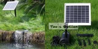 5W Solar Power Pond Pool Water Pump Battery LED Light