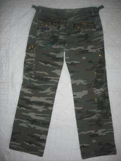 Sexy *** Miss Me Jeans Camo pants Studs Rhinestone Dragon