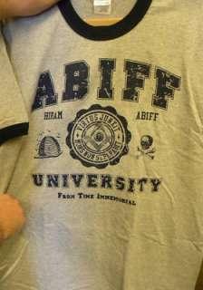 NEW Masonic Ringer T Shirt Abiff University S 4X