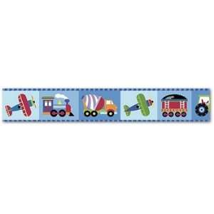 Trains, Planes & Trucks Wall Border by Olive Kids