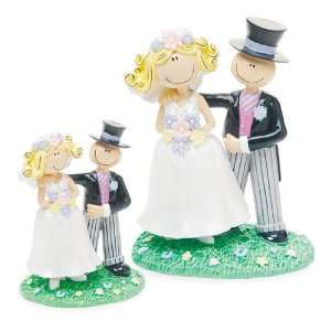 Wedding Cake Topper   Comical Bride Groom   Large (1