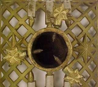 CANDLES & STARS on LATTICE CAST IRON CHRISTMAS TREE STAND Beauty
