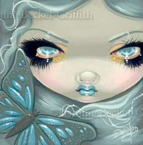 Fairy Face 26 Jasmine Becket Griffith Fantasy Butterfly Big Eye SIGNED
