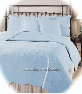 Quilt & Pillow Shams Set Shabby Country Cottage Coastal Living Chic