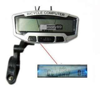 NEW LCD Bicycle Bike Computer Odometer Speedometer