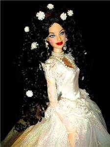 barbie doll ooak dakotas.song black hair Enchanting Fairy Tale
