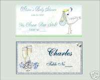 Wedding Bridal Shower Party Favors Place Seating Cards