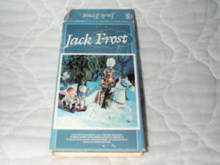 JACK FROST VHS BUDDY HACKETT RANKIN BASS CLAYMATION