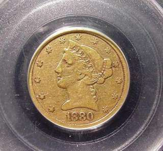 CC Liberty Head GOLD Half Eagle $5 Coin Motto/Eagle PCGS F 12
