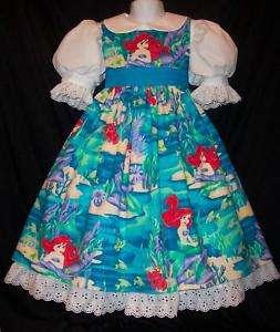 VHTF ARIEL Little Mermaid SPARKLE Dress CUST SZ Disney
