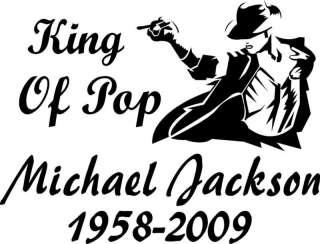 King Of Pop Michael Jackson Sticker Decal 6.5 X 8.5