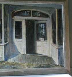 Large Earl Gross Original Oil Painting Exhibited Chicago Art Institute