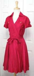 DVF DIANE VON FURSTENBERG Aria Fuchsia Bloom Wrap Dress 4 S