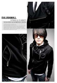 Mens Double Zipper Hoodies blazer tshirts biker Jackets
