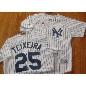 MLB New Mark TEIXEIRA #25 New York YANKEES XL Home WHITE