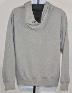 Billabong Mens Full Zip Hoodie Sweatshirt Gray Black Logo Medium