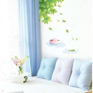 PAPER SHIP 1 ADHESIVE WALL DECOR MURAL STICKER SWST 27