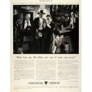 1942 Ad American Optical Glasses Grandma Specs Optometrist Post Office