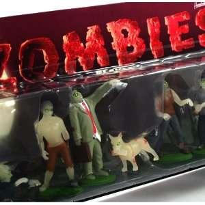 Zombies Vinyl Halloween Decor Toy Figures (Set of 9) Toys & Games