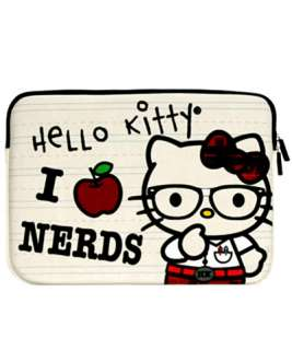 AUTHENTIC  Loungefly ~ HELLO KITTY NERD LAPTOP CASE