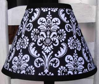 Black and White Damask Lamp Shade