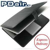 PDair Black Leather Book Case for MacBook Air 2010 11