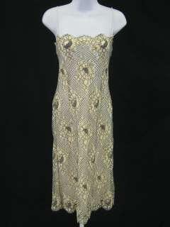 RALPH LAUREN BLACK LBL Beige Lace Sleeveless Dress Sz 6