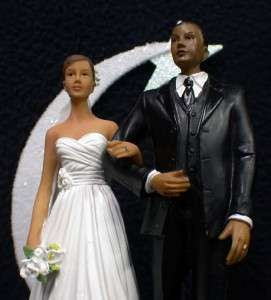 Hispanic African Black American Wedding cake topper