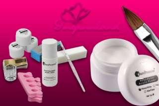 French Acrylic Nail Art UV Gel Full Set Manicure Kit AU