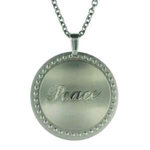 Circle Shaped Stainless Steel Pendant with Dotted Border