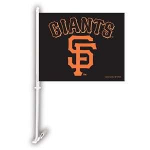 San Francisco Giants Car Flag W/Wall Brackett