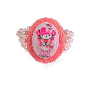 Tarina Tarantino Hello Kitty Pink Head Gothic Lolita 3 Row