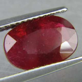 95 CTS PIGEON BLOOD RED RUBY OVAL CUT GEMSTONE