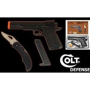 Colt 45 Model Airsoft Gun W/ Knife
