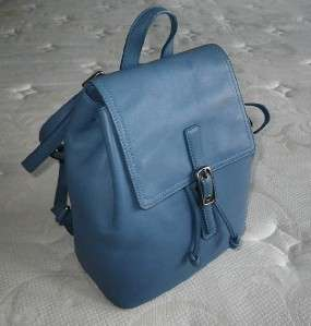 COACH VINTAGE CLASSIC RETRO LEGACY SKY BLUE LEATHER BACKPACK PURSE BAG