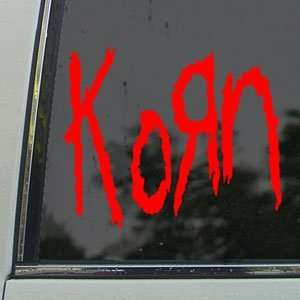 Korn Red Decal Metal Rock Band Car Truck Window Red