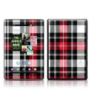 Red Plaid Design Protective Decal Skin Sticker for Kobo Vox 7 inch